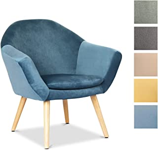 Mc Haus NAVIAN - Sillón Nórdico Escandinavo de color Azul