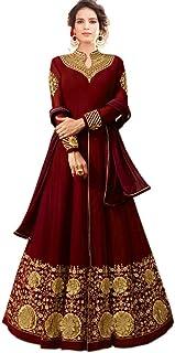 AnK Women's Georgette Anarkali Semi Stitched Salwar Suit With Dupatta (Free Size)