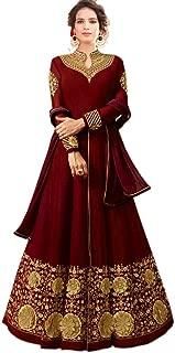 Bipolar Life Women's Faux Georgette Anarkali Semi Stitched Salwar Suit