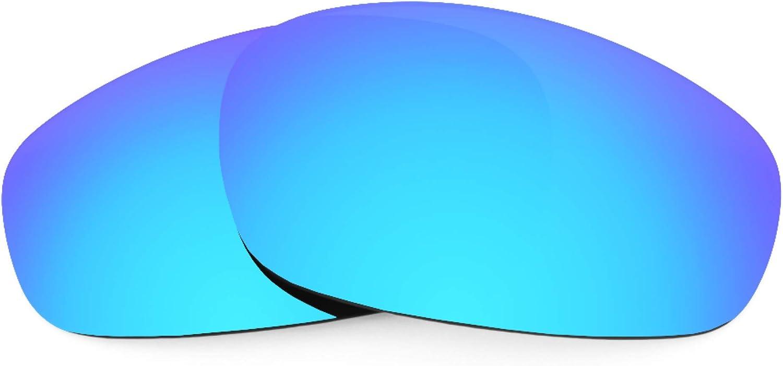 Revant Verres de Rechange pour Oakley Wind Jacket - Compatibles avec les Lunettes de Soleil Oakley Wind Jacket Bleu Glacier Mirrorshield - Polarisés Elite