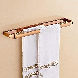 GYL MAOJINJIA LWFB Towel Rack/Copper Bath Towel Frame/Bathroom Towel Storage Holder Shelf/Retro Towel Stand (3 (Size : B)