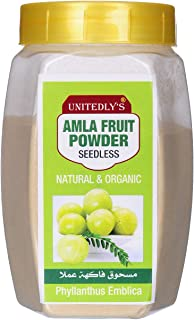 Unitedly's® Organic Amla Powder (Seedless) Indian Gooseberry Powder for Hair & Skin Care -200 Grams