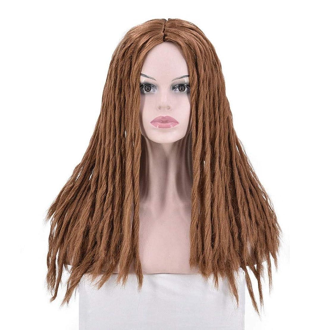 価値タウポ湖必要としているBOBIDYEE 編組かつら耐熱性繊維中央部毛髪交換のためのコスプレの女性のかつらレースのかつらロールプレイングかつら (色 : ブラウン)