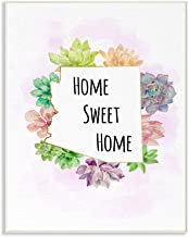 Stupell Industries Arizona State Home Sweet Home Succulent Watercolor Vignette Oversized Wall Plaque Art by Ziwei Li, 12 x...