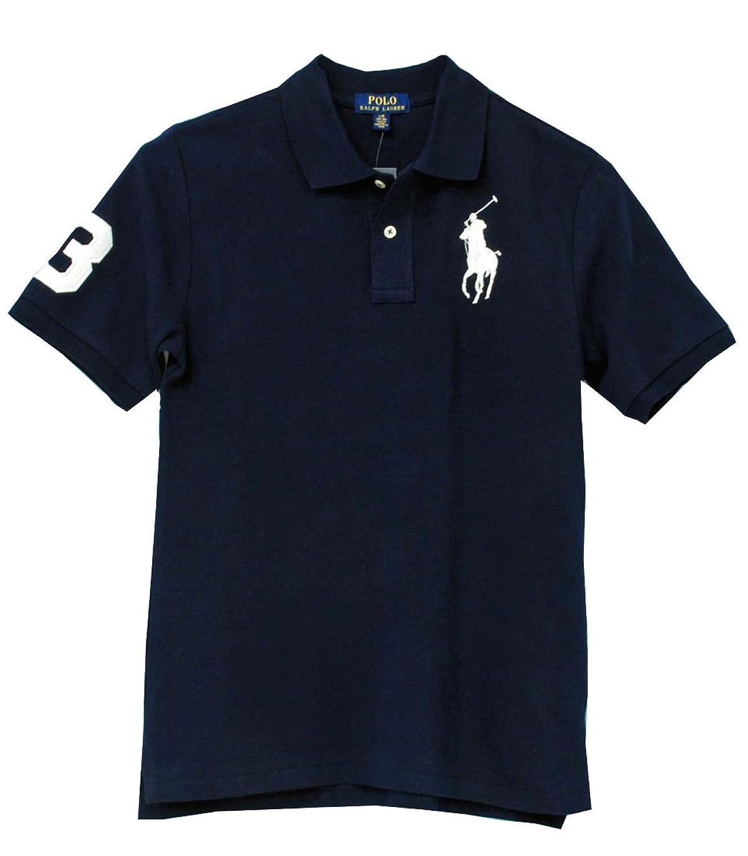 Ralph Lauren(ラルフローレン) ボーイズ,ビッグポニー半袖鹿の子ポロシャツ #323507653 [並行輸入品]