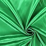 Fabulous Fabrics Satin grasgrün, Uni, 141cm breit –