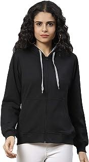 NIVIK, Winter wear, Woolen Hooded, Zipper Sweatshirts for Women (Small)