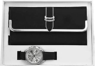 Women's Matching Watch & Wallet - Black