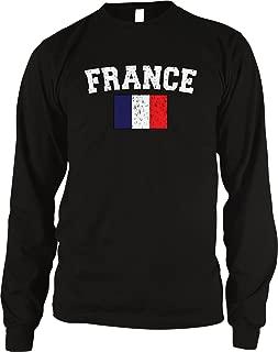 Amdesco Flag of France Men's Long Sleeve Thermal Shirt