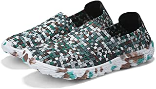 AIRAVATA Men Slip On Loafters Shoes Fashion Casual Lightweight Breathable Woven Walking Sneakers,3 Colors,7 Sizes