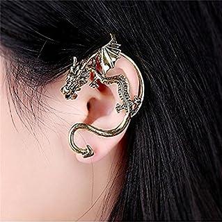Bling Beauty Retro Vintage Silver Bronze Punk Gothic Temptation Metal Dragon Bite Ear Cuff Clip Wrap Earrings. Charm Cuff Earrings for Women Earingsyj2095