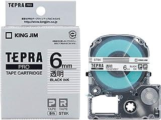 キングジム テープカートリッジ テプラPRO 6mm ST6K 透明