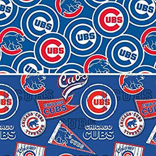 MLB Chicago Cubs Cotton Fabric - Half Yard Pack - 2 Designs