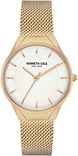 Kenneth Cole Women's Mesh Bracelet KC50962002 Gold Stainless-Steel Quartz Dress Watch