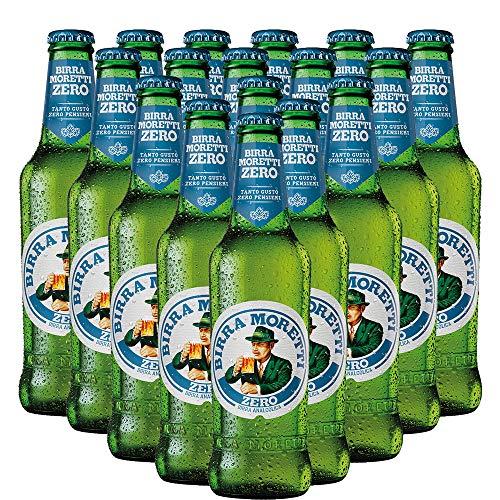 Birra Analcolica Moretti Zero | Lager Italiana | 0 Alcol | 24 Bottiglie 33cl