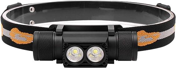 Sterke Koplamp Aluminiumlegering USB Opladen Hoek Aanpassing IPX Waterdicht 2000 Lumen Outdoor Dewing Night Fishing (vrij ...