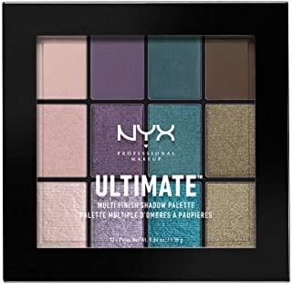 NYX PROFESSIONAL MAKEUP Ultimate Multi-Finish Shadow Palette, Eyeshadow Palette, Smoke Screen
