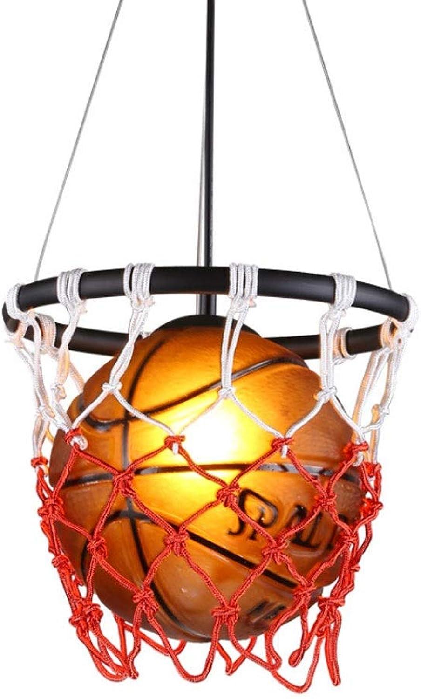 HS-01 Dekorative Kronleuchter, Retro Basketball Kronleuchter, Kreative Persnlichkeit Restaurant Studie Fitnessstudio Sport Thema Bekleidungsgeschft Dekoration Kronleuchter