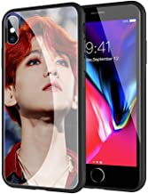 GUOZHAO Phone Case iPhone 6 Plus/6s Plus,GZA-51 Exo Baekhyun Bands Tempered Glass Back Black Cover and Soft Silicone Rubber Bumper Frame for Scratch-Resistant and Anti-Scratch Absorption