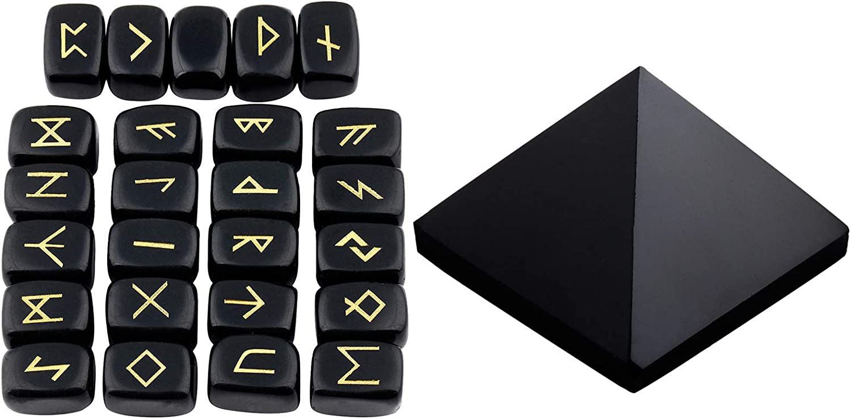 mookaitedecor Bundle Animer and price revision - 2 Items: trend rank Stones Obsidian Black Set Rune