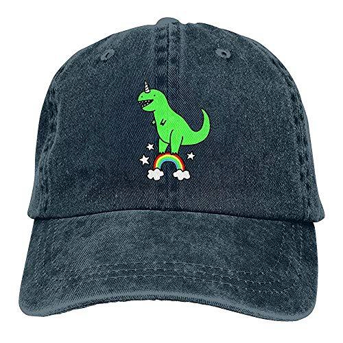 Strapback Kappe Unisex Cute T-Rex Einhorn Vintage Chic Denim verstellbar Trucker Mütze Baseball Cap