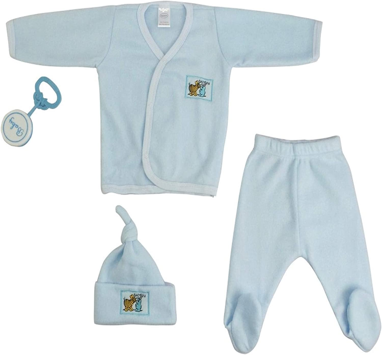 Bambini Blue 4-Piece Pastel Fleece Gift Set