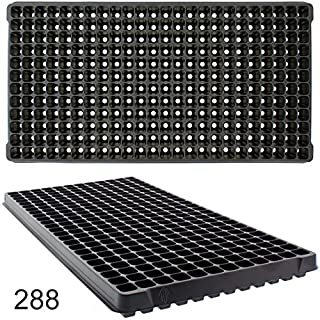 Seed Starting Plug Flats, 10 Pack 288 Cells -Seedling Starter for Planting (10, 288 Cells)