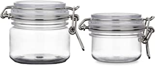 2PCS 120G/200G 4oz/7oz Round Clear PET Plastic Latch Lid Air Tight Sealed Cosmetic Bottle Jars Makeup Facial Body Mask Cream Lotion Food Storage Hermetic Container Pot with Locking Cannister Lids