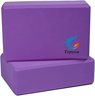 Topyea Yoga Blocks,Exercise Blocks,Yoga Foam Blocks, Recycled High Desity Foam (Set of 2)