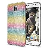 NALIA Glitter Case compatible with Samsung Galaxy J3 2017