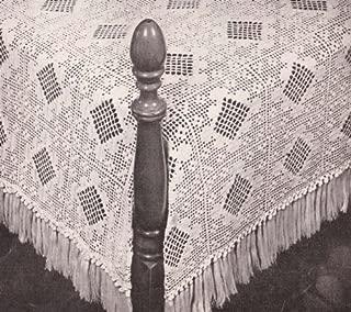 Filet & Popcorn Crochet Bedspread Pattern