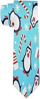 Not applicable, Pingüinos Calcetines navideños Corbatas para hombres Corbata delgada Jacquard Corbata tejida para hombres
