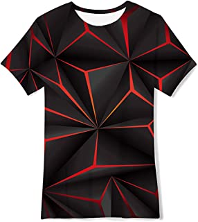 Belovecol Niños Niñas Camiseta 3D T Camisetas Verano Manga Corta Colorida 6-14 años