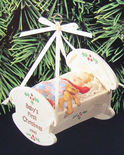 BABY'S FIRST CHRISTMAS CRADLE HALLMARK 1999