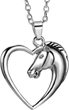 Heart Pendant Necklace by Luvalti – Horse Heart Jewelry – Family and Friends..