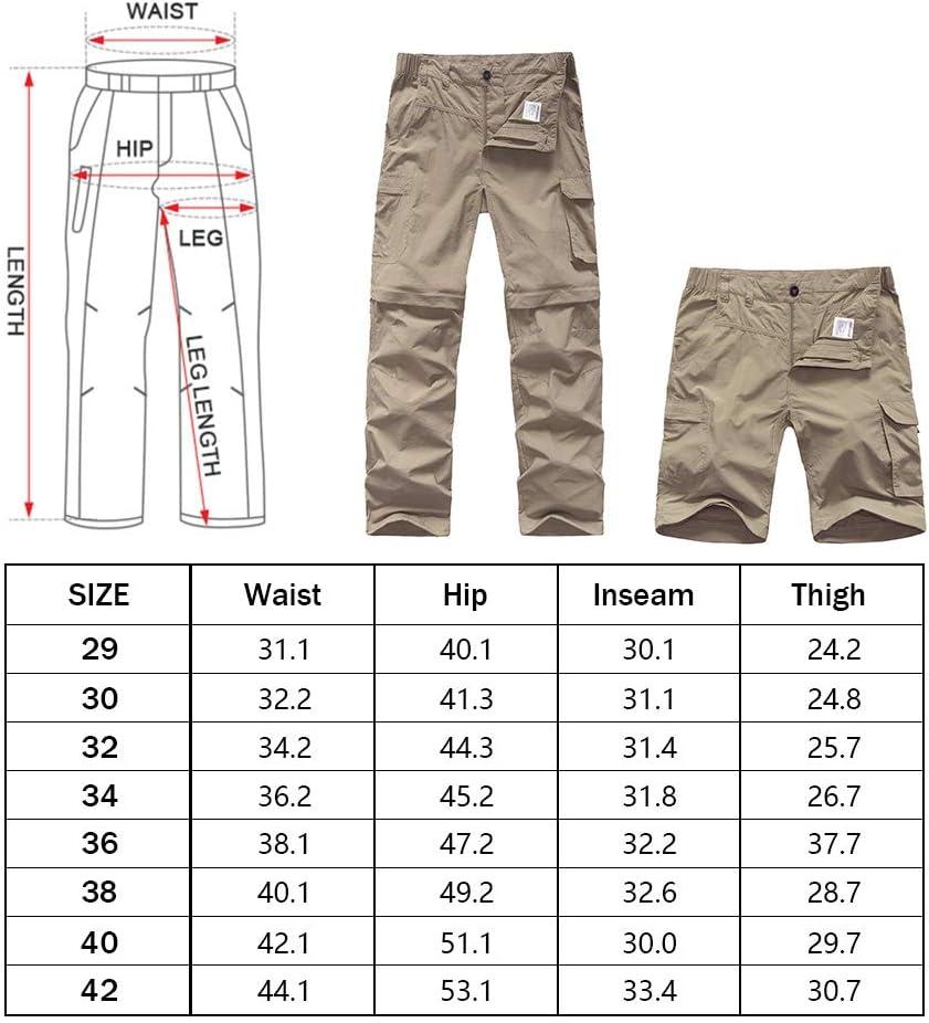 Jessie Kidden Wanderhose Uomo Zip Off Outdoorhose Trekkinghose Uomo Sommer Schnelltrocknend Leicht Wasserabweisende Cargo Pants