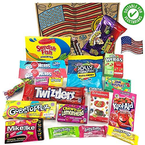 Heavenly Sweets Cesta de Golosinas Vegetarianas Americanos - Selección de Golosinas y...