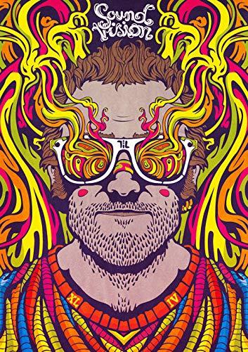 wgkgh DIY Pintura Por Números Para Adultos Pinturas Al Óleo Seniors Niños Lona Kits De Los Dibujo Lienzo Principiante Decoración De Casa Pinturas Hombre con gafas de colores 30CMX40CM