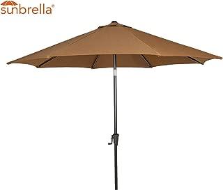 Patio Tree Outdoor Patio Sunbrella Umbrella 9-Feet Aluminum Market Table Umbrella, Canvas Teak
