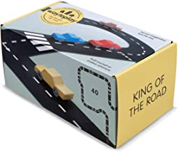 waytoplay King of The Road 40-Piece Toy Road, Black with White Striping, 648 cm