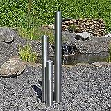 CLGarden B-Ware Edelstahl Element für Säulenbrunnen Gartenbrunnen Springbrunnen DIY 3 Säulen aus aufwendig gebürstetem Edelstahl rostfrei