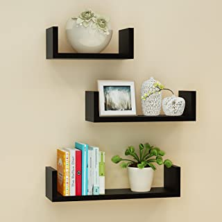 LBYMYB Wall Shelf Black Floating Shelves Wall Shelves Shelves Bookshelf Toy Storage Display Shelf