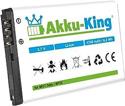 Akku-King Battery for Motorola Defy  Pro  MB520 Kobe  Bravo MB525 replaces BF5X Li-Ion 1700mAh