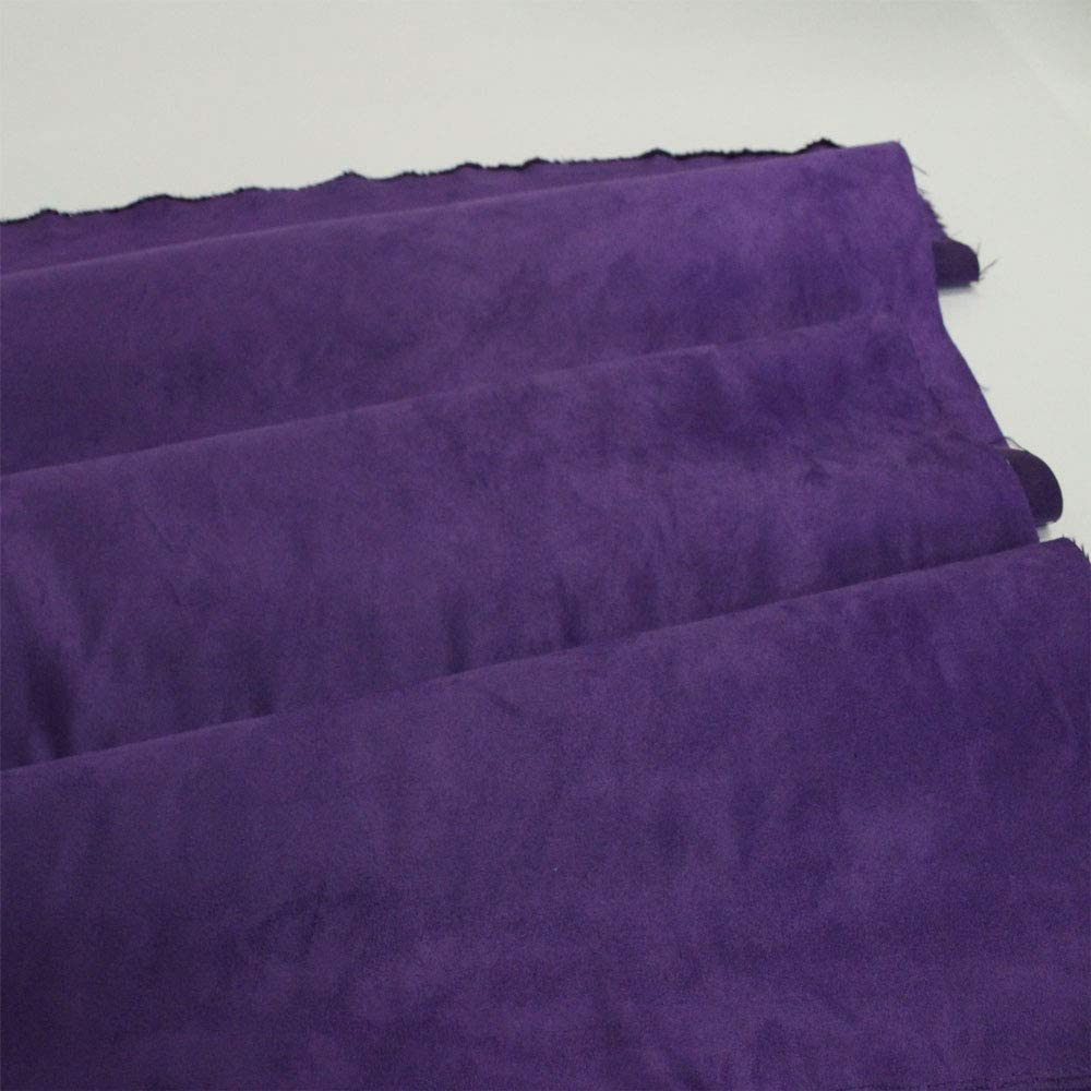 Super intense SALE Purple Suede Microsuede Fabric Max 47% OFF Drapery Yar 10 Upholstery