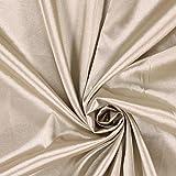Fabulous Fabrics Satin hellbeige, Uni, 141cm breit –