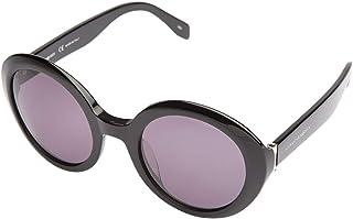 Alexander McQueen Round Sunglasses for Women - Brown Lens, AM0002S-001