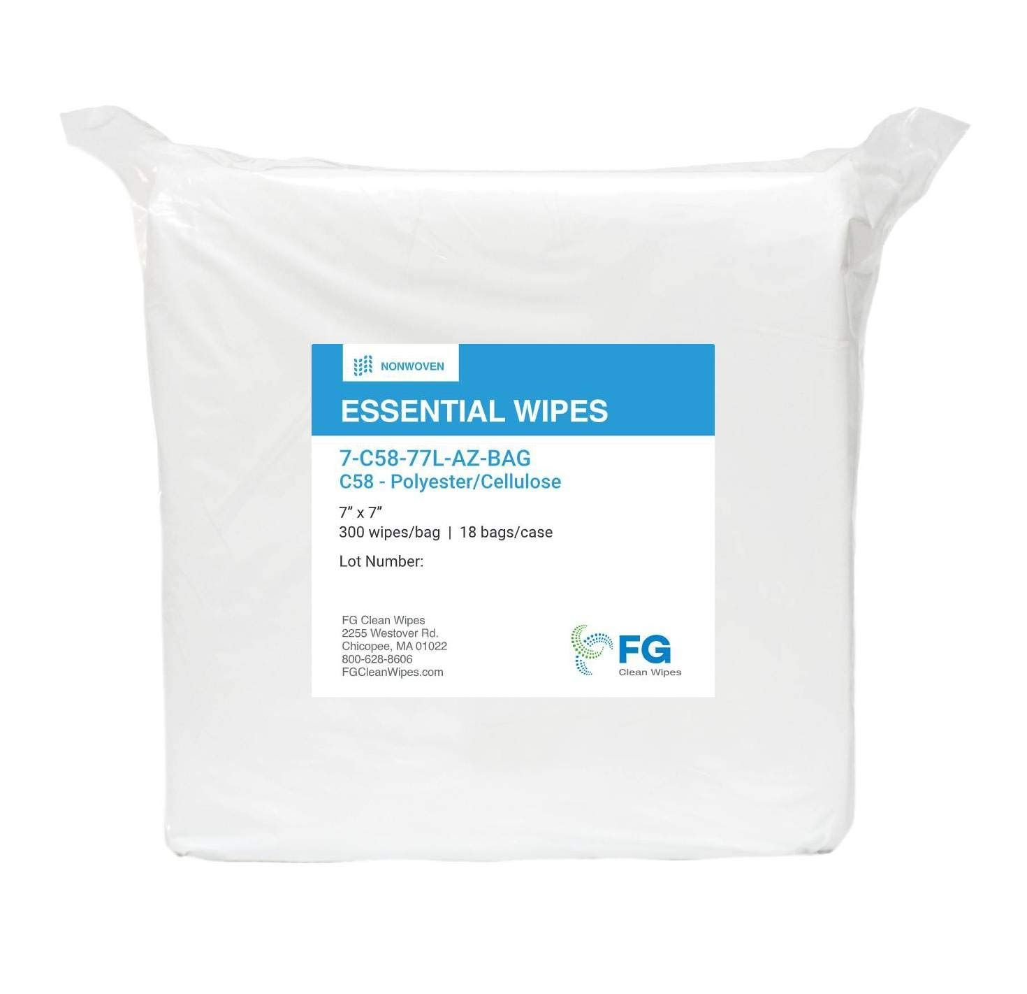 FG Clean Wipes C58 Columbus Mall Economy Cellulose Lint-Fre Selling Polyester Nonwoven
