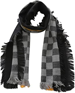 Kids Girls Boys Grid Warm Shawl Scarf