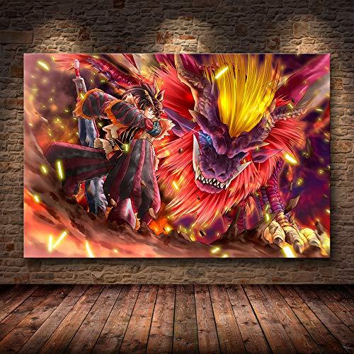 H/F Juego Clásico Monster Hunter World Cartel De Lienzo De Arte HD DIY Estilo Nórdico Bar En Casa Decoración De Café Mural Pintura Al Óleo Sin Marco40X60Cm 6637L