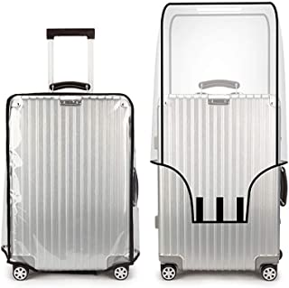4000f21da TopZK Clear PVC Suitcase Cover Protectors 20 22 24 26 28 30 Inch PVC  Transparent Travel